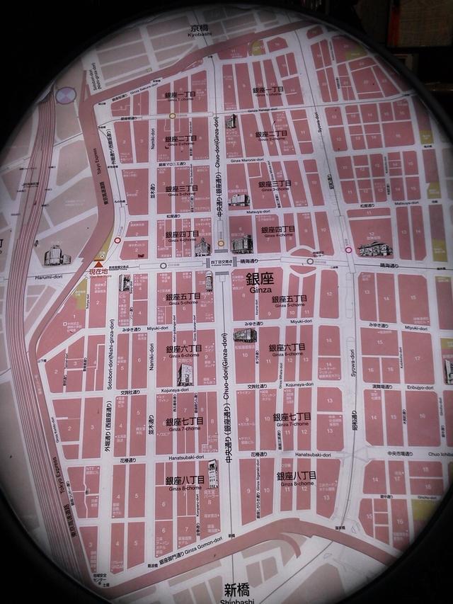 銀座の地図